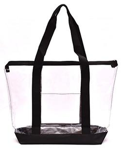 large clear tote handy beach all purpose
