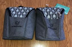 Lot 2 Lekebaby Insulated Baby Bottle Tote Bags Travel Double