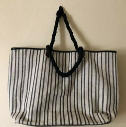 Lot of 20 LANCOME Signature Tote Bag Woven Ivory w/ Strips L