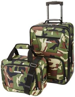 Rockland Luggage 2 PCs Set Travel Carry On Suitcase Rolling