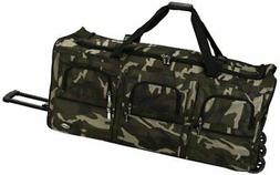 Rockland Luggage 40 Inch Rolling Duffle Bag, Camouflage, X-L