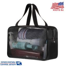 Mesh Caddy Shower Tote Bag Oxford Hanging Toiletry Organizer