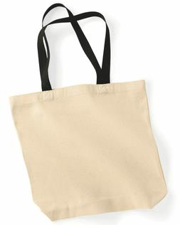 Natural Canvas Tote Bag, Beach Totes, Reusable Grocery Shopp