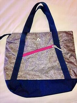 NEW $45 ADIDAS*SQUAD III GRAY BLUE ONYX JERSEY SHOULDER TOTE