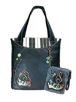 New Chala Everyday PIANO Music Zip Tote Large Bag & Zip Arou