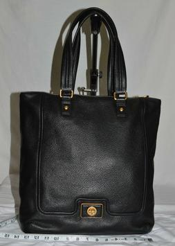 New Marc by Marc Jacobs Large Black Leather Shoulder Tote Ba