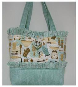 New Handmade tote purse bag Kitchen Vintage green home faffy