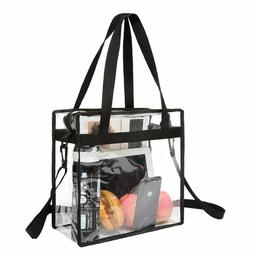 BAGAIL NFL and PGA Stadium Approved Clear Tote Bag with Zipp