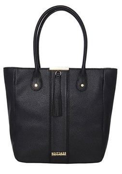 """Kenneth Cole Reaction """"Norway"""" Large Black Tote Bag New Orig"""