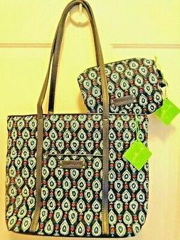 NWT 2-pc Vera Bradley SMALL TRIMMED VERA Shoulder Bag / Tote
