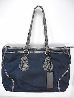 NWT TUMI BELLEVUE COTTAGE ZIP TOTE 73246NVY NYLON  LEATHER S