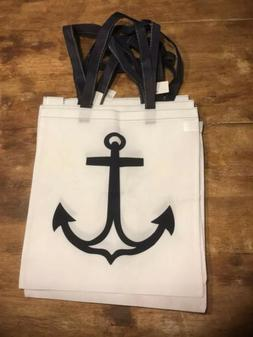 Oriental Trading Anchor Tote Gift Bags Party Favors  White N