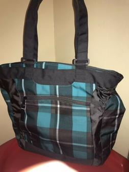 JanSport Plaid Tote Bag With Zipper