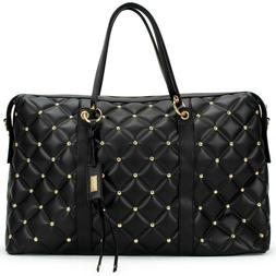 BADGLEY MISCHKA Quilted Travel Tote Weekender Bag - Packable