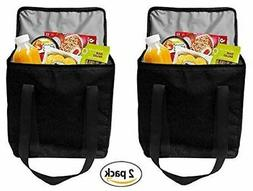 Earthwise Reusable Insulated Grocery Bags Heavy Duty Nylon T
