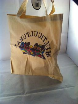 """TOPPERS Reuse Canvas Shoppers Day Tote Bag 15"""" X 16"""" sd 10"""""""