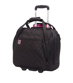 DELSEY PARIS Rolling Underseat Tote Carry On Luggage Bag Bla