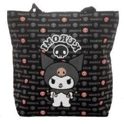Sanrio Kuromi Black and Pink Large Tote Bag Officially Licen