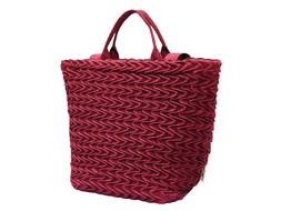 Silk Handbags for women Totes bags with Smocking wave design
