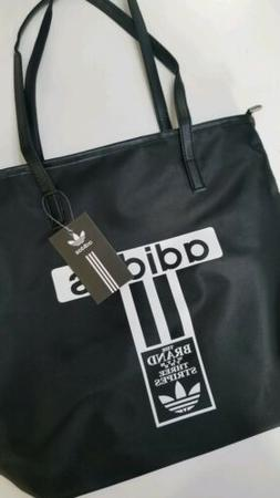 Sleek Black Adidas Tote Bag- Trendy Casual Quality Bag- New