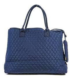 Solid Blank Navy Blue Extra Large XL Quilted Tote Bag Womens