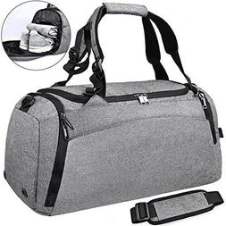 NEWHEY Sports Gym Duffel Bag with Shoe Compartment Waterproo
