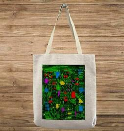 Spring colors abstract and geometric Tote Bag
