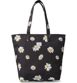 Herschel Supply Co. Black White Daisy Mica Canvas Tote Bag N