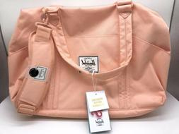 Herschel Supply Tote Diaper Bag Salmon Pink Changing Pad Can