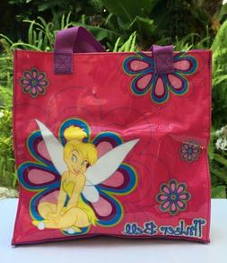 Disney Tinker Bell Tinkerbell Hot Pink Glitter Accents Tote