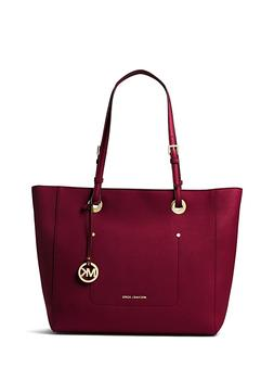 Michael Kors Tote 30S7GWAT4L Mulberry Saffiano Leather Large