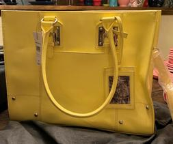Wilson Leather  Tote Bag  Laptop Briefcase NWT Lemon