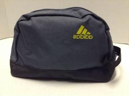 ADIDAS Travel Bag Zipper Tote Toiletry Cosmetics Blue Makeup