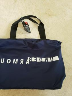 UNDER ARMOUR WOMEN'S UA FAVORITE NAVY XL TOTE BAG WITH WHITE