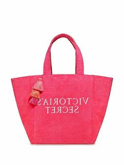 Victorias Secret Limited Edition Pink Terry Cloth Tote Bag B