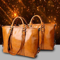 New Women Large Leather Tote Bag Commute Handbag Shoulder Sa