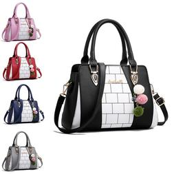 Women's PU Leather Bag Purse Shoulder Handbags Tote Messenge