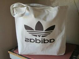 X LARGE Adidas Tote Canvas White Bag, shopping bag, beach ba
